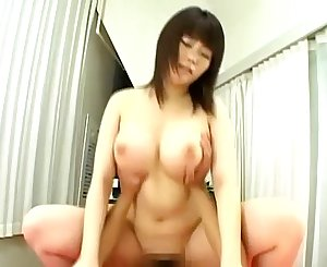 Buxomy hairy asian fuck and cumshot