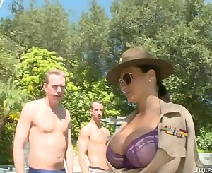 Three Lucky  Fresh Recruits gets Enlisted into Sgt. Lisa Ann Special Military Unit!!