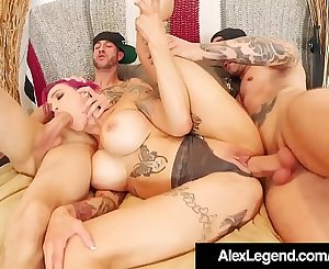 Inked Mummy Anna Bell Peaks Wrecked By Alex Legend & Bro!