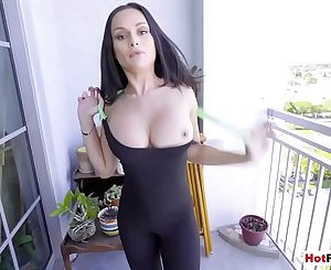 Almost got caught while fucked my russian Mummy stepmom