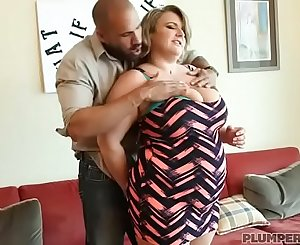 Big Tit BBW MILF Veronica Gags on Huge Latino Cock
